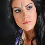 Studio headshot for Model and Make-up -Artist portfolio
