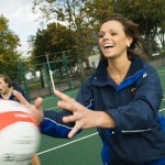 PR Photographer Telford - action shot for Matalan Netball sponsorship publicty