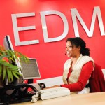 Commercial photographer Wolverhampton - Reception desk EDM Bilston