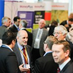 Busy trade show networking photo, Birmingham