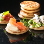 Food photographers Leamington Spa - Savoury Blinis pack shot