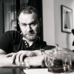 Chef Glynn Purnell in Purnell's Restaurant Birmingham Black and White portrait