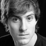 Black and white studio acting headshot, Birmingham Photographer
