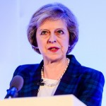Theresa May conference speaker photograph at Warwickshire event