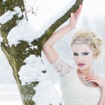 Snow Queen winter beauty portrait concept - Lauren in tree, Bruton Park