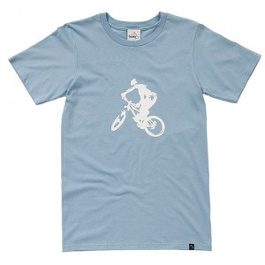 Product photography birmingham - blue cotton t shirt studio photo