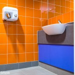 Interior detail for tiling and flooring contractor, West Midlands. Photographer Edward Shaw