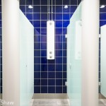 Shower image for tiling and flooring contractor, West Bromwich Leisure Center. Commercial Photographer Edward Shaw