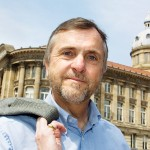 Birmingham commercial portrait photographer - Mature man in Victoria Square