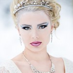 Snow Queen fashion headshot photo - Beauty makeup on location in chilly winter conditions!