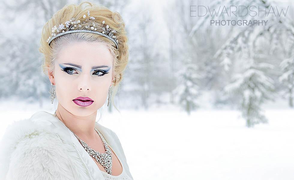 Snow Queen Makeup Photographer birmingham