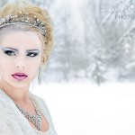 Winter beauty Snow Queen fashion concept - Brueton Park, Solihull, Jan 2013