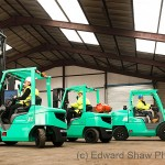 Industrial vehicle photographer. Fork lift trucks. Client Mitsubishi.