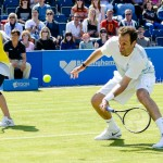 Greg Rusedski forehand volley - tennis photography in Edgbaston