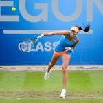 Ana Ivanovic serving - Aegon Classic Tennis Final 2014