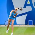 Ana Ivanovic serving at Aegon Classic Tennis