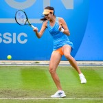 Ana Ivanovic plays an athletic forehand at Aegon Classic Tennis