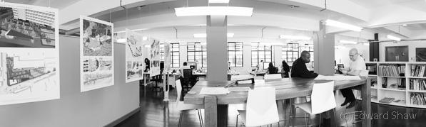 Design office panoramic interior 3759